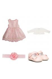 kjole med bolero, sko og hårbånd