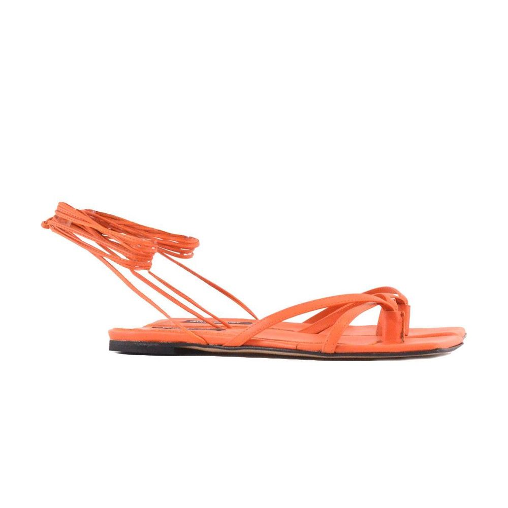 Gisel Moire Orange Thong sandals with laces Gisel Moire