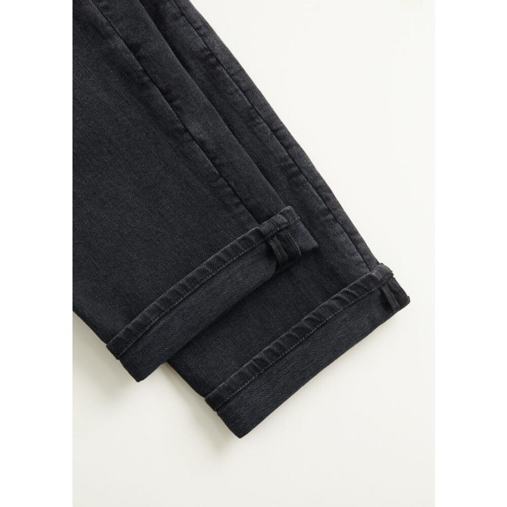 MANGO Svarta jeans Steve regular fit sliten finish MANGO