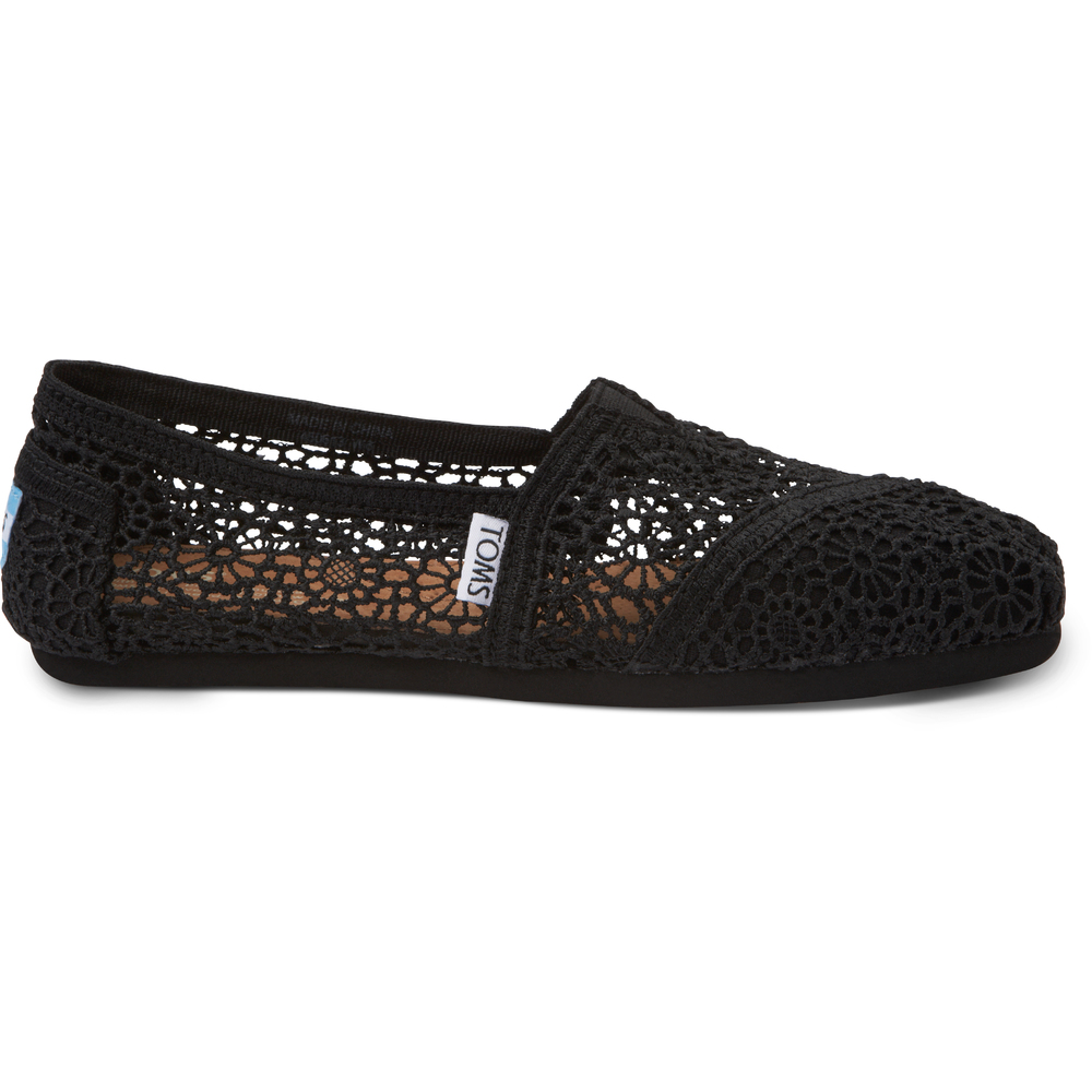 Sort Moroccan Toms Crochet Loafer