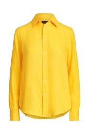 Relaxed Fit Linen Skjorte