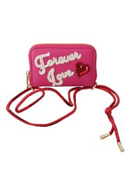 Forever Love Zipper Leather Coin Purse Wallet