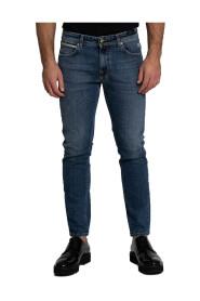 Five-Pocket Straight-Leg Jeans