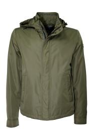 Polstret jakke med aftagelig hætte