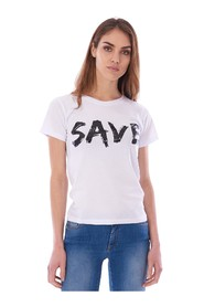 PRINTED CREW NECK SAVE THE DUCK T-SHIRT