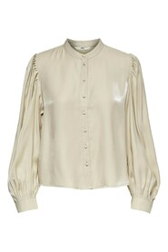 Beige Only Onlabigale Life Ls Dn Blouse Bluse
