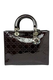 Cannage Patent Leather Lady Dior Satchel