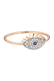 Ajna rose gold, sapphire and diamonds eye ring