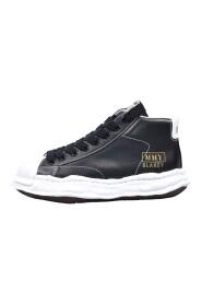 Sneakers alta blakey in pelle
