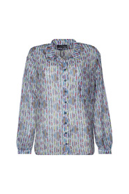 Il de re fish print blouse