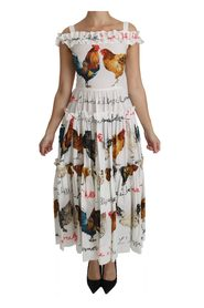 Rooster Sheath Midi Dress