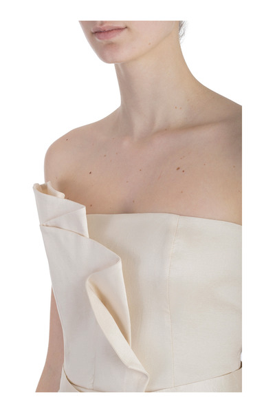 Beige DRESS DECOLLETE 'IN SHANTUNG | Hanita | Sukienki okazjonalne LAuUIzNm