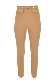 Trousers with light gold logo
