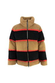 COLOUR BLOCK FLEECE JACQUARD PUFFER JACKET BRADFIELD CAMEL