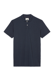 Short-sleeved mesh polo shirt in a shaped fit