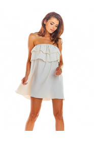 Sukienka z odkrytymi ramionami o luźnym kroju A299