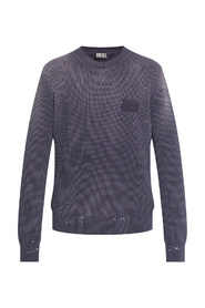 Ribbed sweater with logo