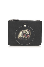 Monkey Brothers Leather Clutch Bag