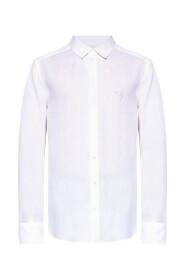 Linen shirt with logo