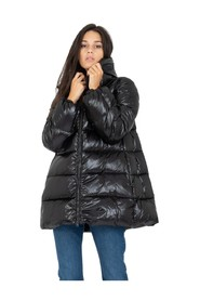High-neck shine down jacket