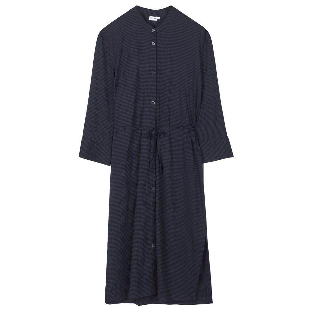 Filippa K Seer-sucker Shirt Dress Navy