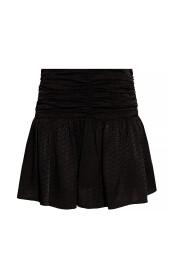 Silk skirt with logo