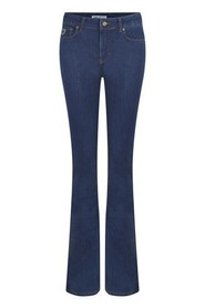 Blue Lois Lois Highrise Flare- Leia Rinse Trouser