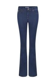 Niebieski Lois Lois Highrise Flare- Leia Rinse spodni
