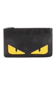 Monster Leather Clutch Bag