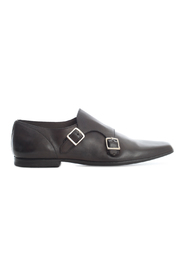 LEATHER SHOES W/DOUBLE BUCKLE