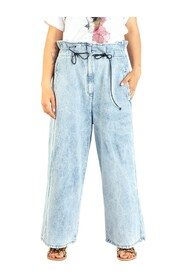 jeans with laces at the waist