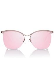 Luxe semi charmed rose mirror lens