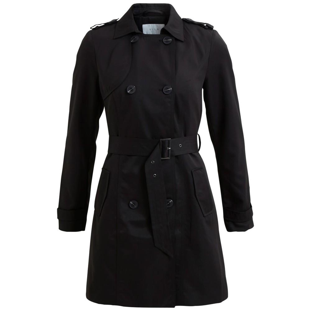 Vithree long trenchcoat black - Vila