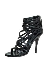 Leather Strappy Zipper Sandals