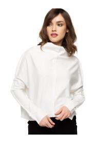 Bluza dzianinowa z ozdobnymi szwami