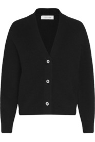 SHORT BUTTON UP FLUF BLACK CARDIGAN