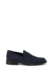Rubber sole with pebbles suede loafers