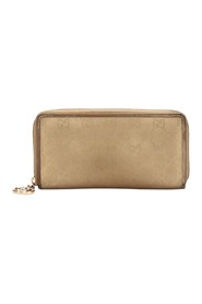 Canvas Zip Around Long Wallet