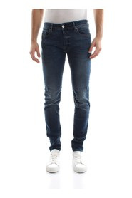 DIESEL SLEENKER JEANS Men DENIM MEDIUM BLUE