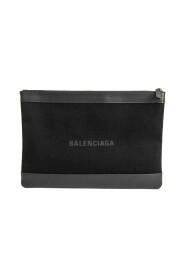 Brukt Clip M 373834 Canvas Leather Clutch Bag