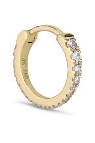 Tiny diamond hoop, 18 karat guld