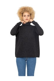 Graphite high neck cashmere sweater