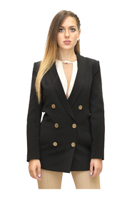 Double-breasted jacket with aged gold button