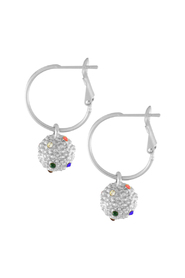 Earrings Amber Rainbow Ball