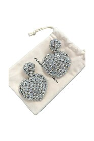 HEART EARRINGS WITH LARGE SPHERE CLIP
