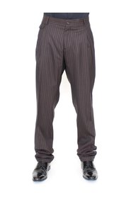 Wool Stretch Pleated Pants