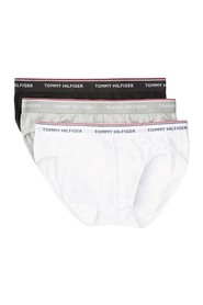 TOMMY HILFIGER 1U87903766 BRIEF 3 PACK UNDERWEAR Men 1 Black, 1 White, 1 Gray
