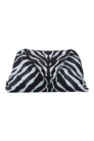 Brukt Zebra Print Envelope Leather Clutch Bag