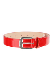 Belt made of red leather