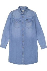 Shirt Dress Mid Stone